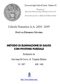 Metodo di eliminazione di Gauss con Pivoting Parziale in MATLAB