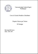 Matrice per vettore III Strategia - Progetti di calcolo parallelo e distribuito