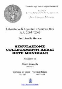 Simulazione collegamenti aerei rete mondiale - Laboratorio di Algoritmi e Strutture dati